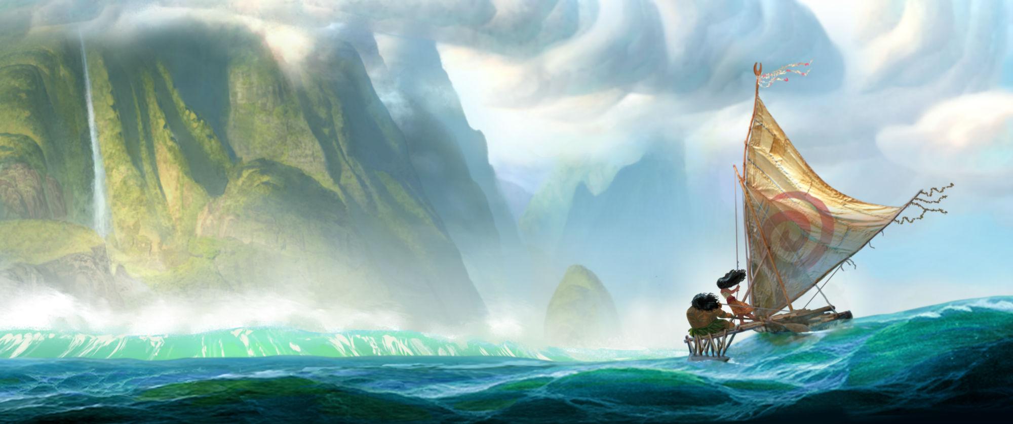 First official concept art for Walt Disney Animation Studios' Moana.
