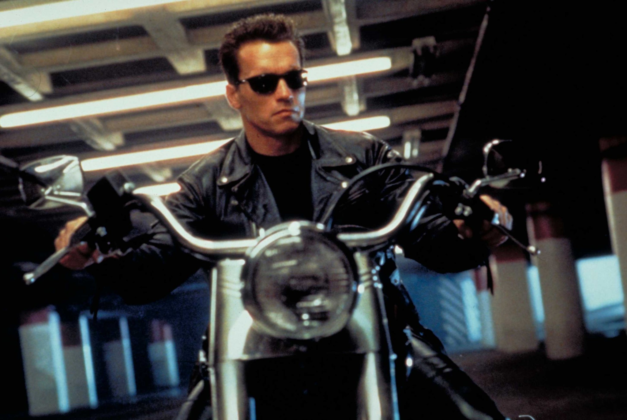 Arnie in Terminator 2: Judgment Day.