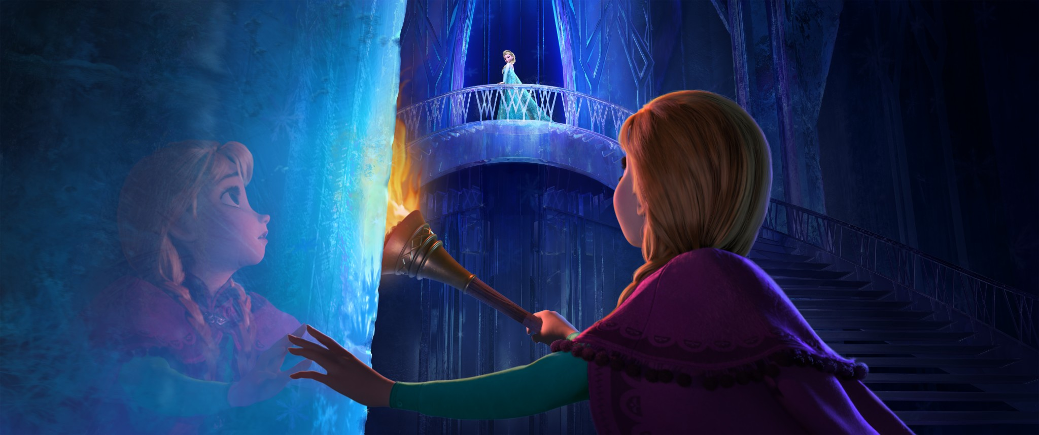 """""""FROZEN"""" (Top to Bottom) ELSA and ANNA. ©2013 Disney. All Rights Reserved."""
