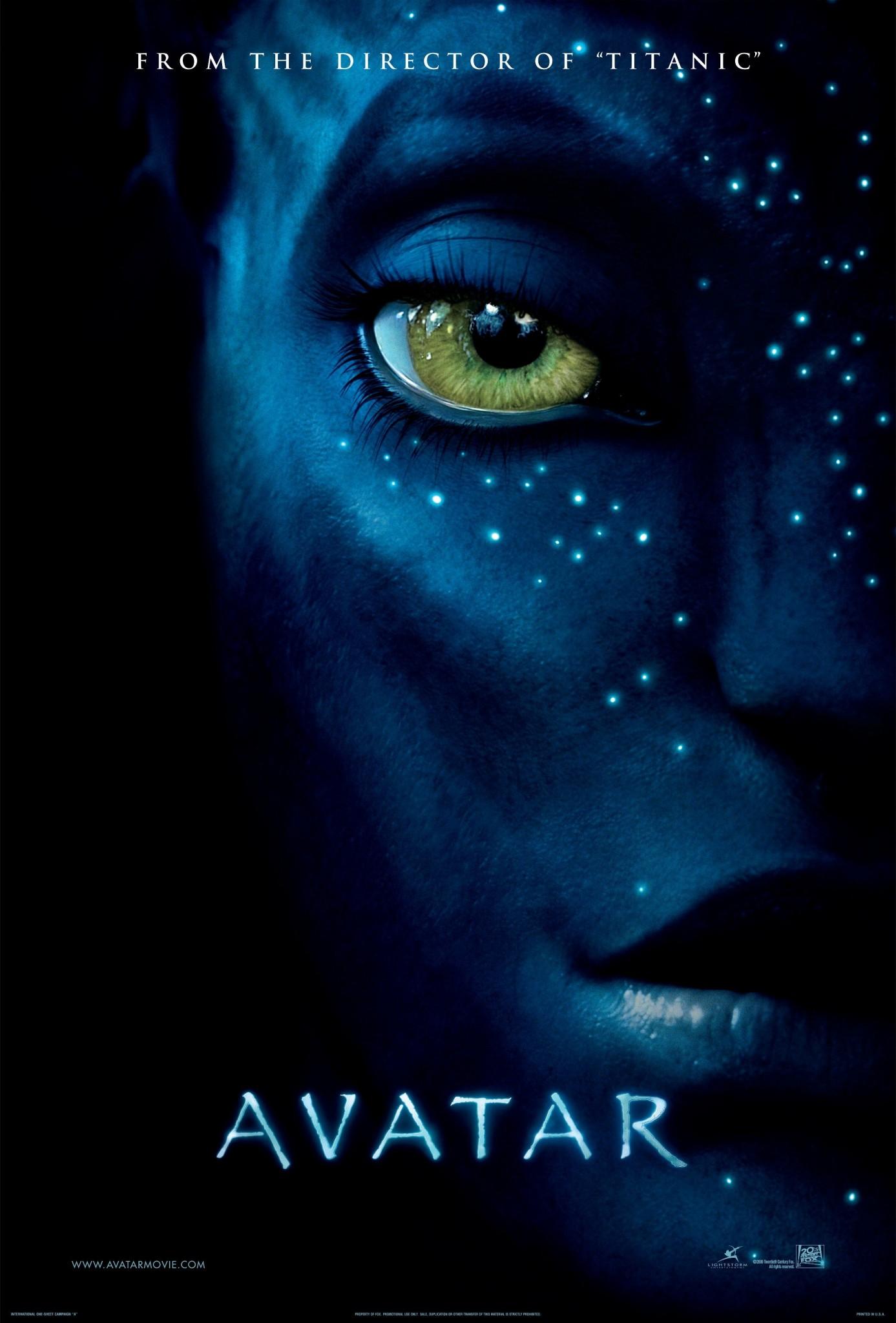 Avatar starring Sam Worthington, Zoe Saldana and Sigourney Weaver