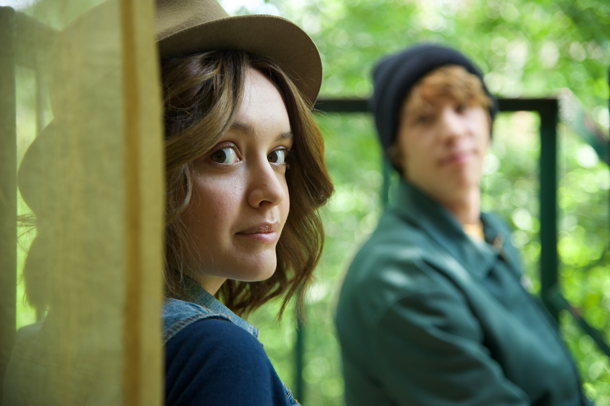 "Olivia Cooke as ""Rachel"" and Thomas Mann as ""Greg"" in ME AND EARL AND THE DYING GIRL. Photo by Anne Marie Fox. © 2015 Twentieth Century Fox Film Corporation All Rights Reserved"