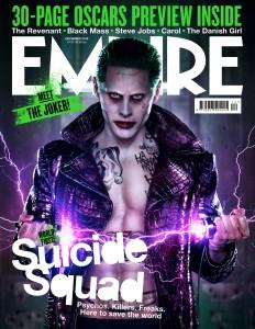 Jared Leto as The Joker on Empire's December issue