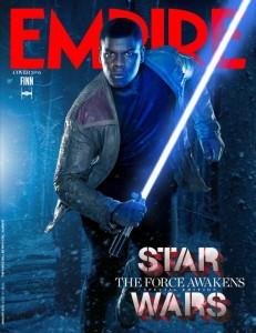 Stormtrooper turned rebel Finn, played by John Boyega.