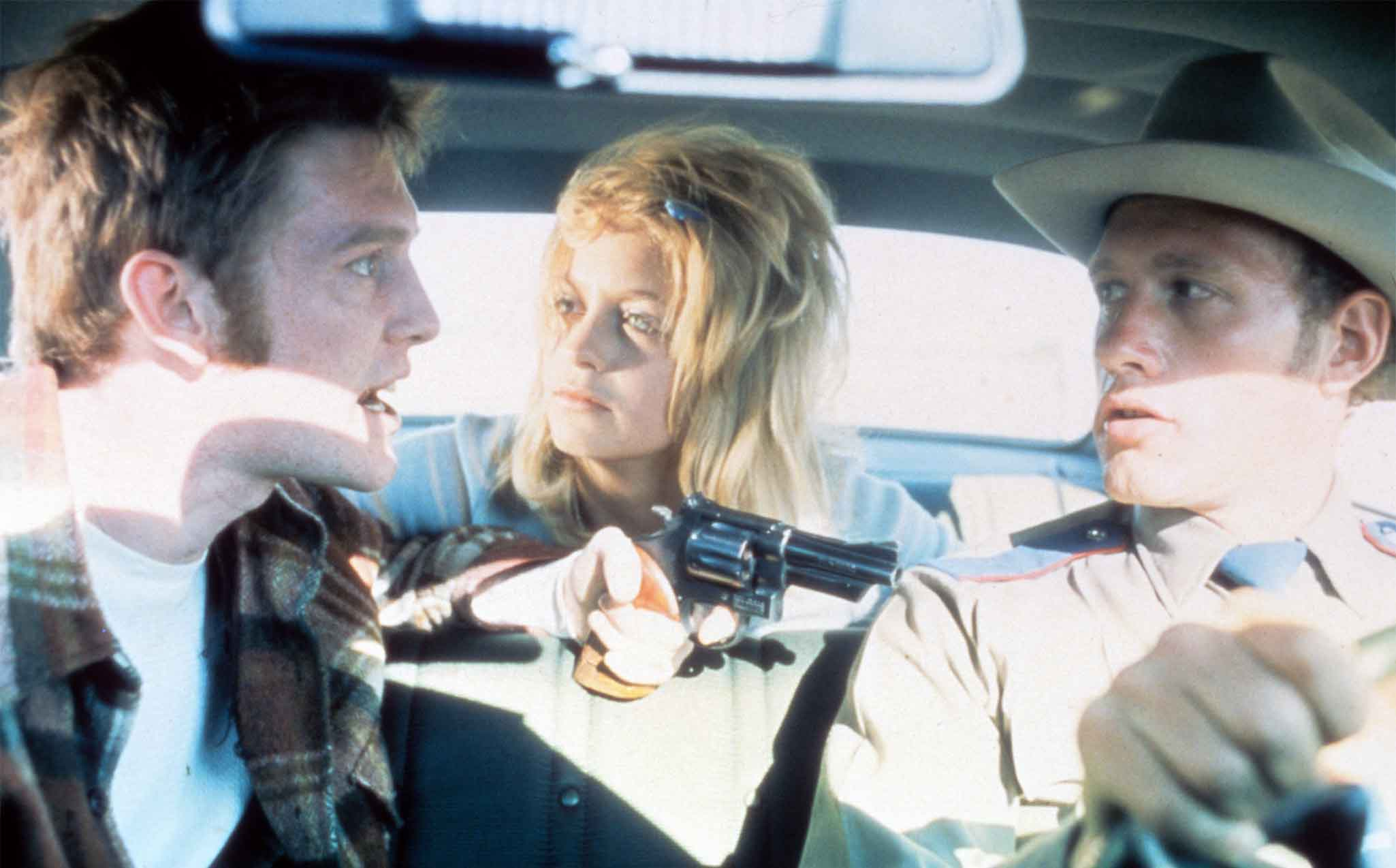 The Sugarland Express (1974) Directed by Steven Spielberg Shown: William Atherton, Goldie Hawn, Michael Sacks