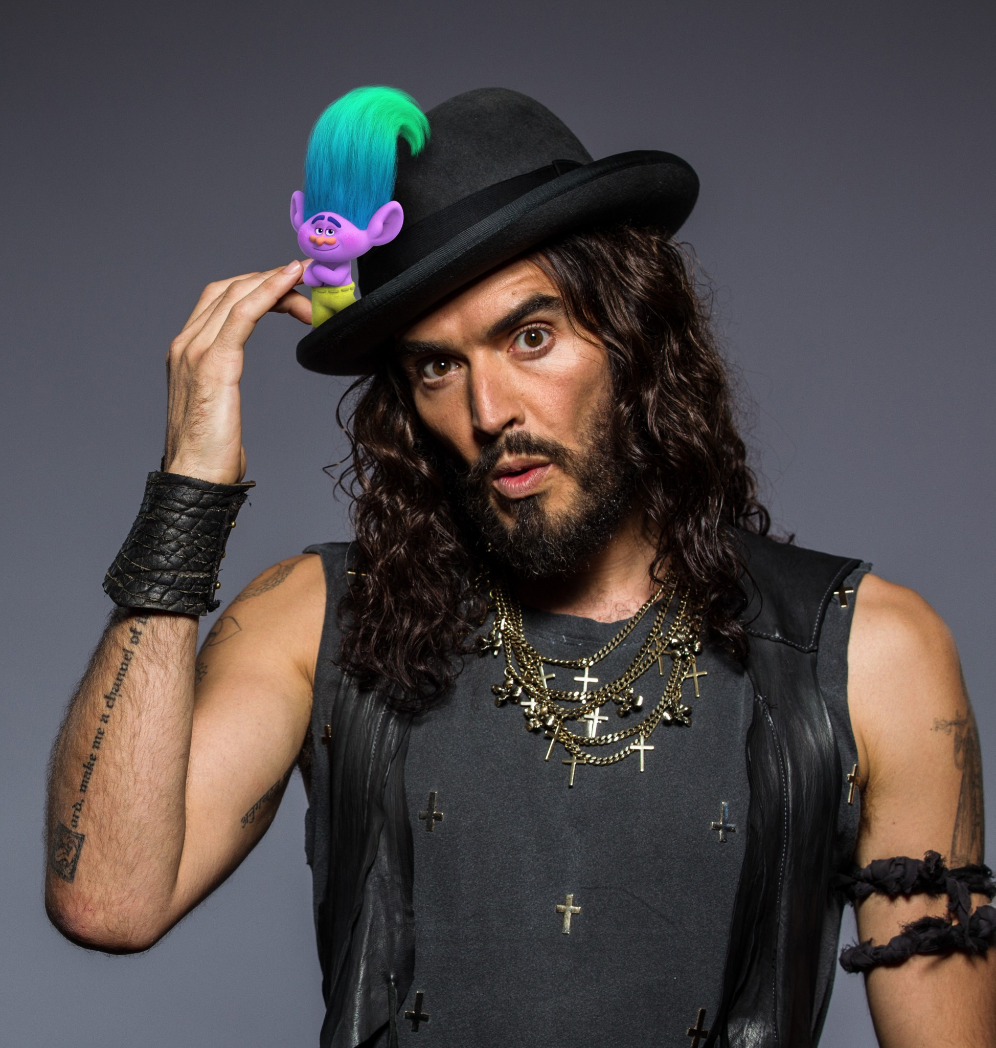 SYDNEY, AUSTRALIA - NOVEMBER 29: Comedian and actor Russell Brand poses at the 26th Annual ARIA Awards 2012 at the on November 29, 2012 in Sydney, Australia. (Photo by Mark Nolan/WireImage)